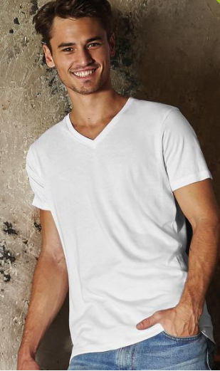 T-SHIRT V-NECK TM044