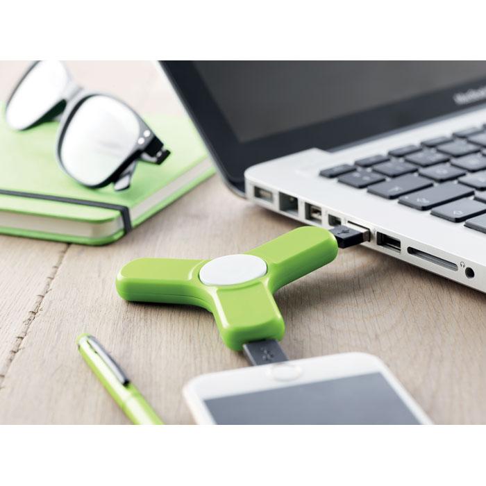 Spinner z końcówkami do ładowania USB