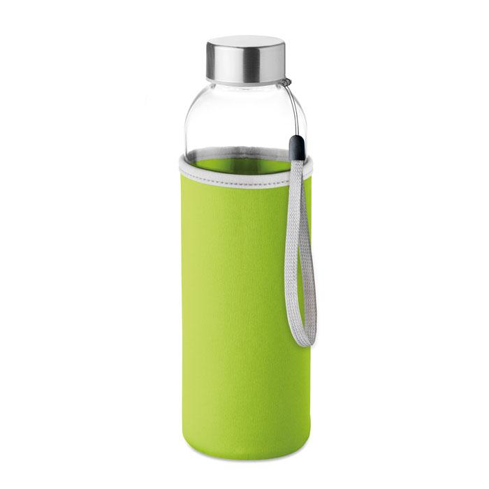Szklana butelka z pokrowcem