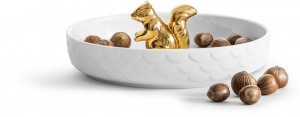 5017722 Wiewiórka miska, kolor złoty