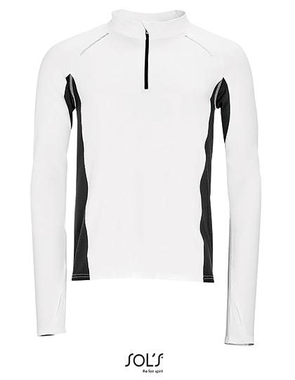 L01416 Męska koszulka do biegania z długim rękawem